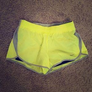 Yellow/Grey Nike Running Shorts Small